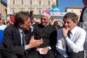 Alemanno l'aquila terremoto Napolitano