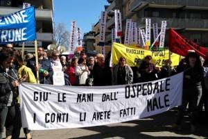 Avanti tutta corteo Pescara ospedale Popoli Abruzzo Notizie