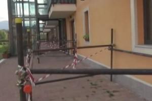 Balcone crollato Puntellamenti Progetto case Cese di Preturo L'Aquila