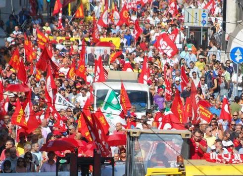 Sciopero nazionale, l'Abruzzo va a Roma