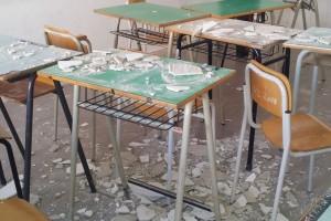 Crollo ce cecco alberghiero intonaco scuola banchi