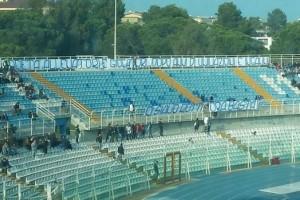 Curva nord Stadio adriatico vuota contestazione tifosi ultras