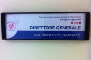 Francesco Zavattaro Asl2 direttore Abruzzo Notizie