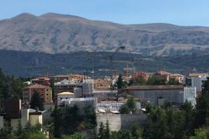 L'Aquila Ricostruzione terremoto gru Abruzzo Notizie