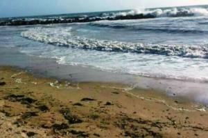 Mare mosso spiaggia