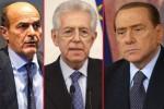Monti Bersani Berlusconi