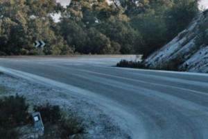 Neve ghiaccio strada ghiacciata freddo