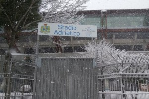 Neve stadio Adriatico Pescara