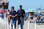 Polizia spiaggia presidio costa