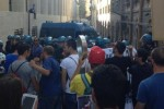 Scontri L'Aquila polizia tafferugli