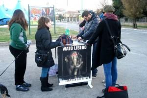 attivisti pescara circo protesta Bellucci