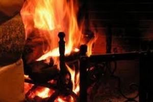camino accende incendio