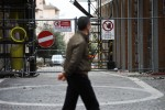 A man walks on April 2, 2012 near the en