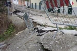 frana strada Santa Maria Calvona Chieti