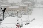 La neve ricopre l'Abruzzo