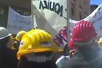 protesta l'aquila lavoro disoccupazione