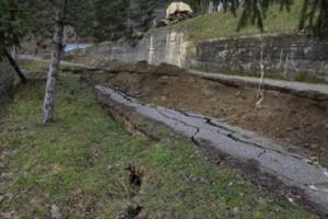 valle castellana viabilità interrotta pioggia